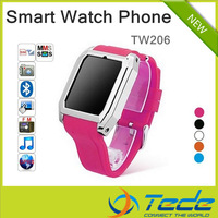 Free Shipping 2013 Smart Watch Mobile Phone TW206 with Touch Screen Java Hidden Spy Camera 32G FM MP4 QQ Fackbook MSN Twitter