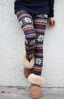 Hot!! New Aztec Leggings for Women Knitted Christmas Snowflake Leggins Cotton Made Tribal Print  Legins 2014  Fashion
