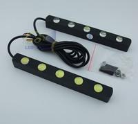 2x5 Head Car Light Super White Car LED DRL Daytime Running Light Lamp Free Shipping