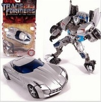 Free Shipping Deluxe Silver Sideswipe Autobots Kid's Cars Robot Birthday Gift Classic Toys For Children With Original Box D0001S