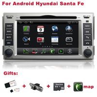 Android  Santa Fe Stereo for Car GPS DVR WIFI 3G CCD Camera SD Card for free Better Quality Better Service Free Shipping+Gifts