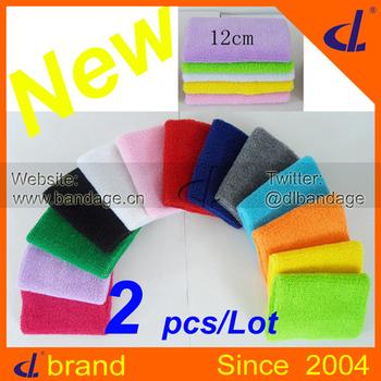 Cotton Sports Wristband Sweatband 8cm*12cm (1 pair/ Lot= 2 pcs) Wrist Support Protector Basketball/Tennis/Badminton