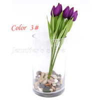 Artificial Tulip bouquet,simulation Tulip bouquet,high quality silk flower, 5 colors available,5 bouquets/lot.AC1306019