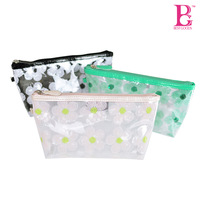 BG High quality transparent pvc bag from professional manufactory Best Selling Clear PU Bag with zipper for cosmetic packing