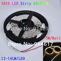12V 5050 SMD flexivel Fita LED 60LED / m 5m 300LED tipo de fita de LED