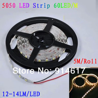 LED strip 5050 SMD 12V flexible light  60LED/m,5m 300LED,White,White warm,Blue,Green,Red,Yellow  LED tape ribbon