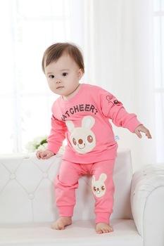 Children Autumn  clothing  Boys & Girls  long sleeve sweaters + pants 2pcs set size 90-130CM Size a little small