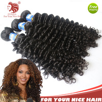 "Discount  12-30"" 3pcs/lot With Mixed Lengthes brazilian virgin weave remy hair Extensions Deep Curl queen hair no shedding"