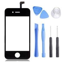 Black Front Glass Lens + Touch Screen Digitizer For iPhone 4 4S 4G Replacement for Lcd Screen Case + Opening Tools