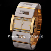 JW208 WeiQin Brand 2013 New Women Fashion Quartz Watches Stainless And Plastic Strap Dress Watches