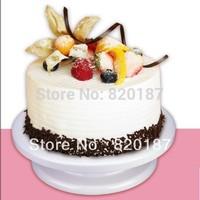 Free shipping 2013 Hot Baking tools wedding & birthday cake decorating turntable swivel plate plastic three cake tools truntable