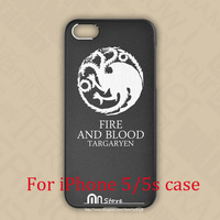 3 Colors 2014 New Game Of Thrones Targaryen Badge Luxury High Quality Aluminum Case For iPhone 5s For iPhone 5 Case Free Ship