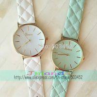 100pcs/lot Geneva Leather Watch Hot Sale Special Strap Casual Leather Watch Wrap Quartz Dress Wristwatch Wholesale Price Watch