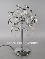 Free shipping hot sales L350*W350*H680mm modern crystal table lamp,Crystal table lamps for living room