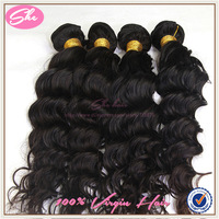SHE Hair alibaba express grade AAAA eurasian deep wave mixed length 3pcs lot eurasian hair 100% human hair weave free shipping