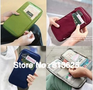 NEW WELL Travel Passport ID Card Key Hand Zipper Case Bag Pouch Wallet YHF-0024890 Freeshipping(China (Mainland))