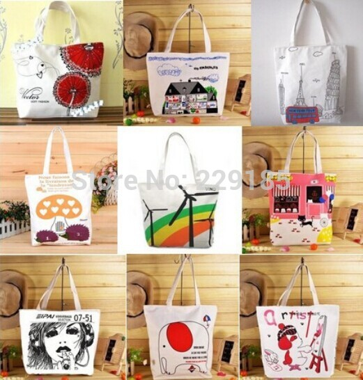 Hot! ! ! Hot Cheap Fashion Single shoulder canvas printing bag multicolor optional Women's Handbag Wholesale Free shipping()