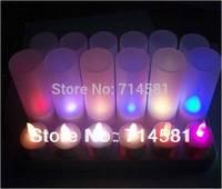 Free Shipping Wholesale Colorful Changing and Lightness Adjustable LED Christmas Decoration Candle10pcs/lot