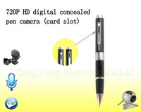 Free Ship SC1022 1280*720 digital concealed portable HD ball Pen hidden invisible camera video+photo+audio+website+PC function
