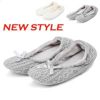 2013 New Style Autumn Winter Women's Home Cotton Padded Indoor Platform Woolen Slipper Plush Brand Loafers Shoes Pantufa Bowtie