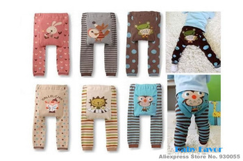 Free Shipping 1Pc Autumn Animal Print Cartoon Design Leggings PP Pants Trousers For Kids Toddlers Infants Unisex Baby Boy Girl