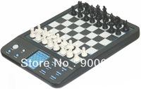 Beginners Electronic Chess Computer, Magnetic, LCD display,game computer, 8 games included,chess,checkers,brainer trainer