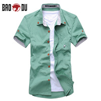 2013 summer men's clothing short-sleeve shirt slim shirt male short-sleeve men's casual shirt