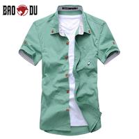 2013 summer men's clothing short-sleeve shirt slim shirt male short-sleeve men's casual shirt