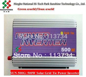 500W gti PV solar micro grid tie MPPT power inverter for solar panel power system,12/24V dc to110/220V ac inversor