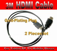 3m HDMI Cable High 10ft Speed HDMI to HDMI male Gold-plated cable for DVR HDTV Tablet PC Xbox Ps3