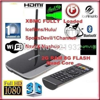 1pc Original Q7 CS 918 MK888 K-R42 Android 4.4 Quad Core RK3188 TV Box XBMC Mini PC Bluetooth 2GB Ram 8GB Rom Free Remote HDMI