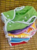 free shipping (100pcs/lot)baby PUL aio cloth diaper cover with double gusset design