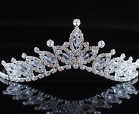 Romantic Floral Bridal Tiaras and Flower Crowns Crystal Austrian Rhinestone Bridal Wedding Pageant Crown Headband