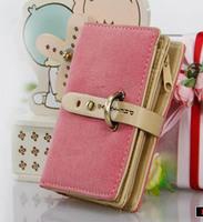 new fashion lady women retro medium purse Hit color clutch wallet high quality bag free shipping handbag card holder case