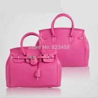 2015 European American Style Lady Handbag Celebrity Favorite Design  Shoulder Bag Candy Color Lock Decorated Tote Bag RT0370
