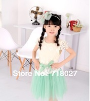 Children's wear girl's summer wear the new 2013 girls princess dress lace children dress in summer