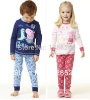 Peppa Pig  Pajama  Set  1PCS Pijama Kids Baby Cartoon Animal pajamas Boys Girls Pajamas Autumn 2013