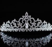 Elegant Princess Prom Clear Rhinestone Tiara Headband Crystal Bridal Crown Wedding Party Fashion Hair Jewelry