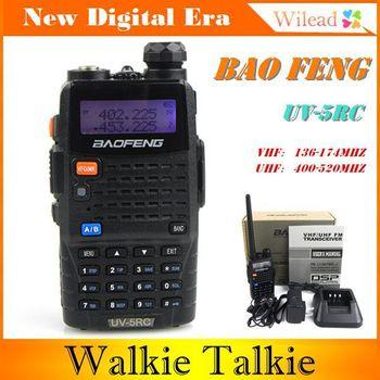 Baofeng Walkie Talkie UV-5RC Interphone Transceiver 5W 128CH UHF&VHF Two Way FM Radio Mobile Portable Handled CB Radio