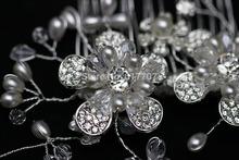 Top Quality 100 Handmade Pearl Bridal Hair Combs Hair Jewelry Wedding Hair Accessories Free Shipping FS010