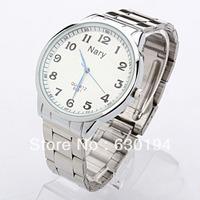 #CW0119 Wholesale Fashion Stainless Steel Shiny white or black wristwatch wide band watch analog digital watch big