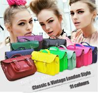 2014 Vintage British Satchel Crossbody Messenger Bags Men and Women PU Leather Shoulder Tote Handbag