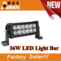 7.5inch 36W 6000K 2100LM  LED Work Light Bar Spot/Flood Beam Agriculture lights SUV,ATV,Industrial lights Truck lights
