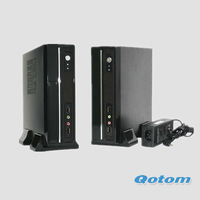 fanless mini pc windows xp,all in one pc terminal QOTOM-T250C4 with 2G ddr3 ram,CPU Intel Atom processor D2500,dual core 1.86GHZ