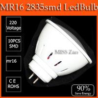 100PCS/lot led bulb lamp High brightness mr16 4w 5w 2835SMD Cold white/warm white AC220V 230V 240V Free shipping