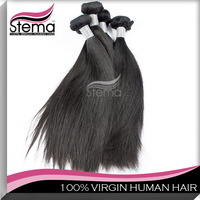 Wholesale Free Shipping 1kg/10pcs Straight  Peruvian Virgin Hair Top Quality Silky One Donor Full Cuticle hair extension