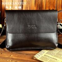 2013 MARKSAXTON male bag shoulder bag han edition men's briefcase real cowhide bag, leisure Men's messenger bags, free postage