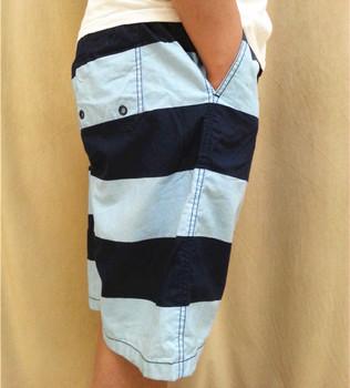 Design Men's Cotton Stripe Board Shorts Size S-XXL Plus Size
