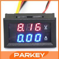Car Electromobile LED Ammeter Voltmeter Ampere Digital Voltage Amp Volt Meter DC 100V 50A Red/Blue 2-color Display Tester#200938