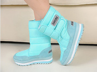 Free shipping 1pair Leisure heightening snow boots for women size size 4-15 lady boots warm shoes